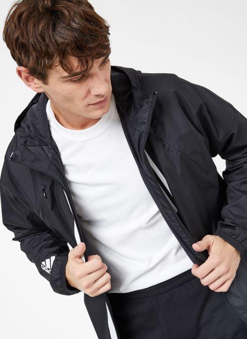 Vêtements adidas performance M WND JKT FL Noir vue détail/paire