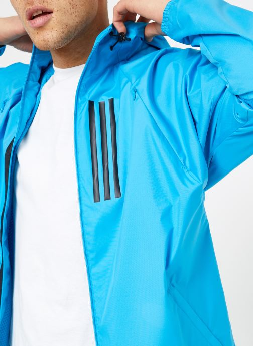 Vêtements adidas performance M WND JKT FL Bleu vue face