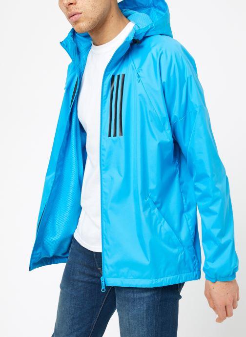 Vêtements adidas performance M WND JKT FL Bleu vue droite