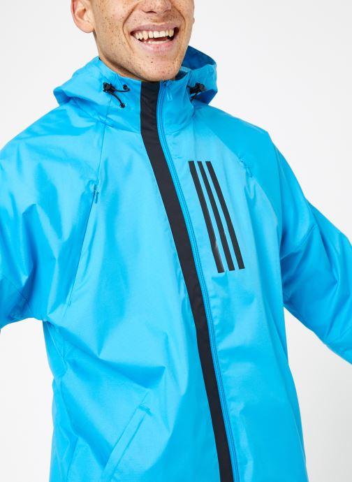 Vêtements adidas performance M WND JKT FL Bleu vue détail/paire