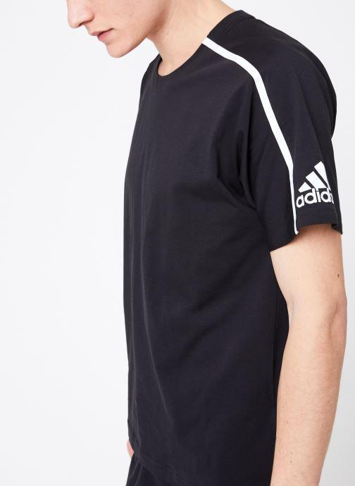 Vêtements adidas performance M ZNE Tee Noir vue droite