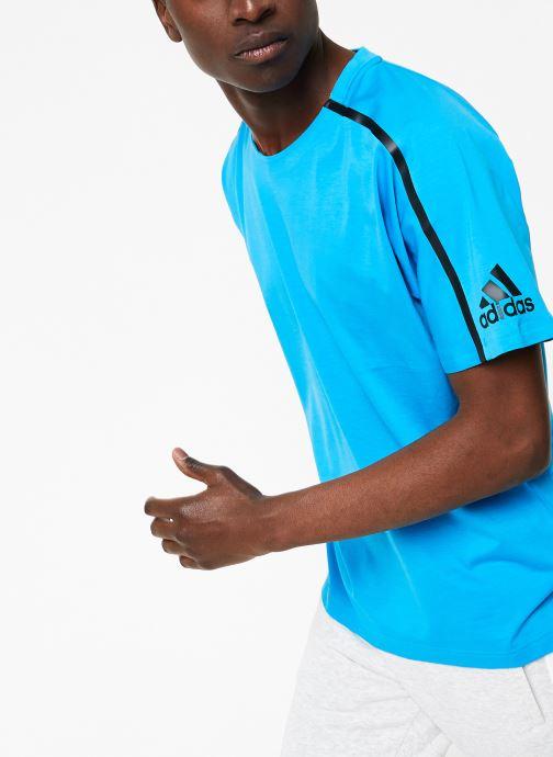 Vêtements adidas performance M ZNE Tee Bleu vue droite