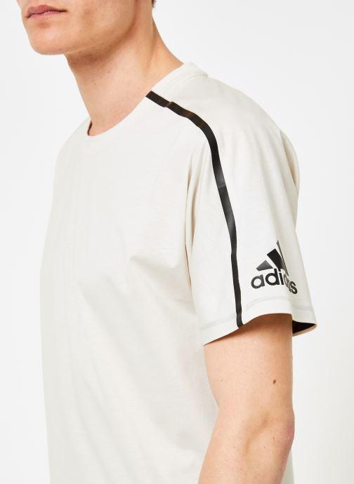 Vêtements adidas performance M ZNE Tee Blanc vue face