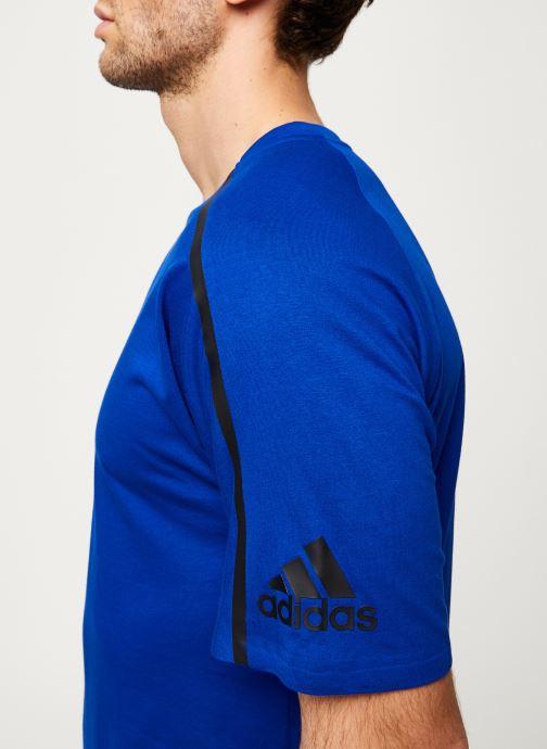 Vêtements adidas performance M ZNE Tee Bleu vue face