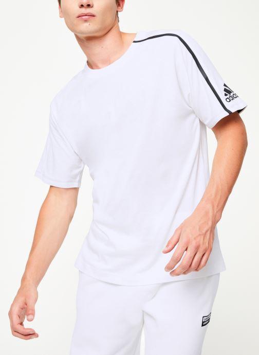 Vêtements adidas performance M ZNE Tee Blanc vue détail/paire