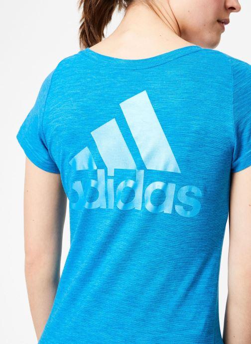 Vêtements adidas performance W Id Winners VT Bleu vue face