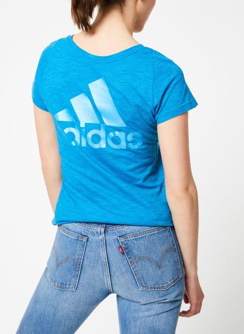 Vêtements adidas performance W Id Winners VT Bleu vue détail/paire