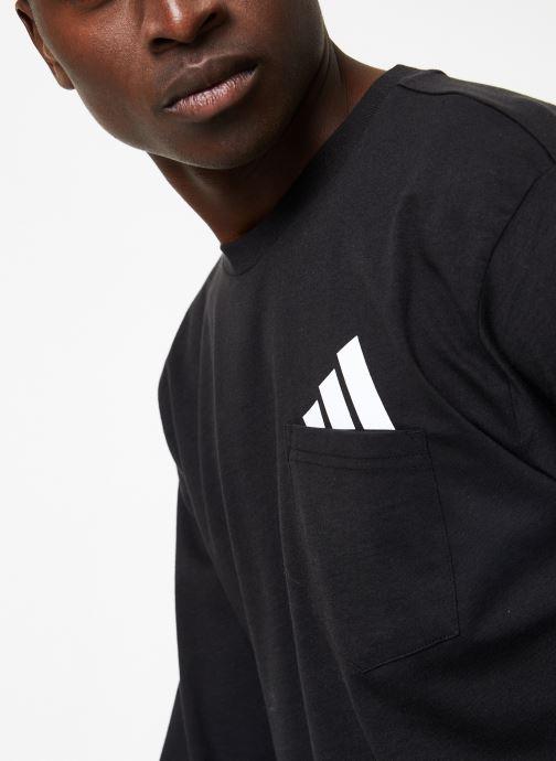 Kleding adidas performance The Pack LS Tee Zwart voorkant
