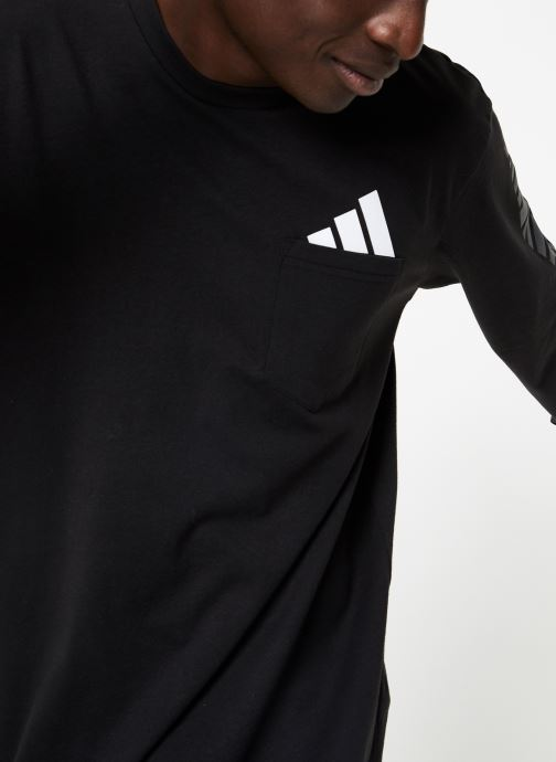 Vêtements adidas performance The Pack LS Tee Noir vue détail/paire
