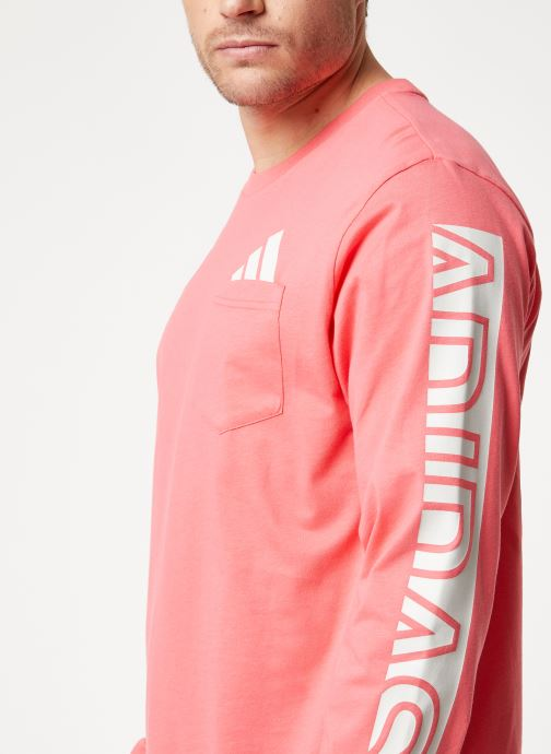 Kleding adidas performance The Pack LS Tee Roze voorkant