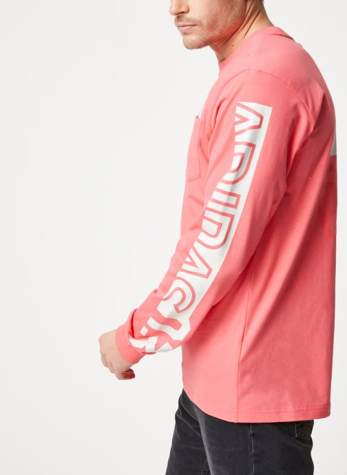Vêtements adidas performance The Pack LS Tee Rose vue droite