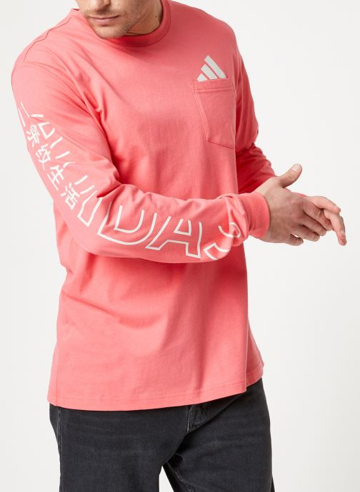 Kleding adidas performance The Pack LS Tee Roze detail