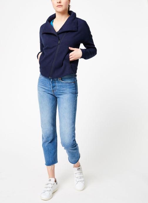Vêtements adidas performance W HTR Jkt Bleu vue bas / vue portée sac