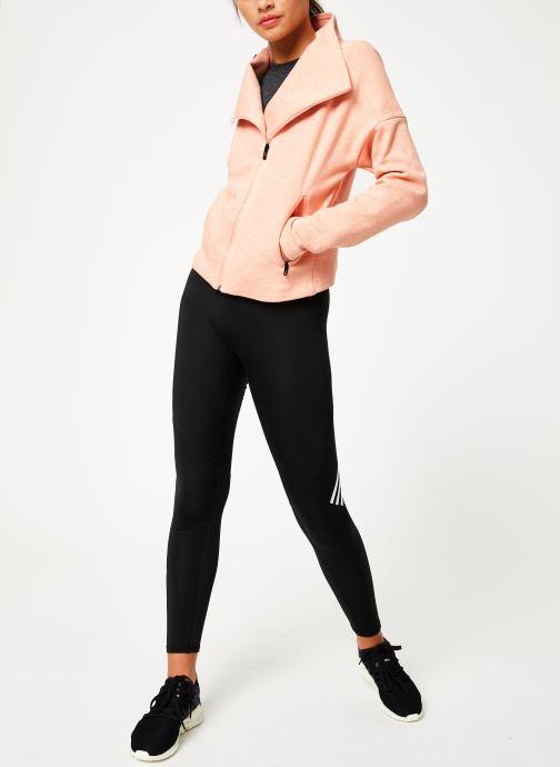 Vêtements adidas performance W HTR Jkt Rose vue bas / vue portée sac