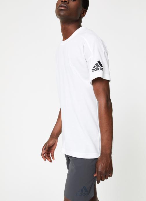 Vêtements adidas performance ID Stadium Tee Blanc vue droite