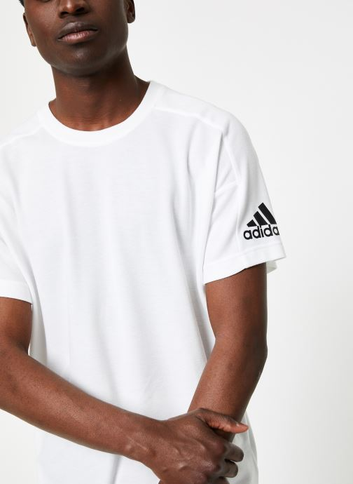 Vêtements adidas performance ID Stadium Tee Blanc vue détail/paire