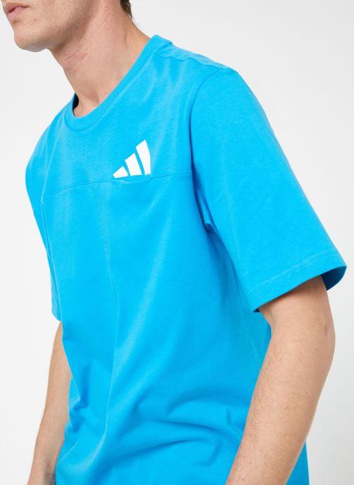 Vêtements adidas performance The Pack Tee Bleu vue face