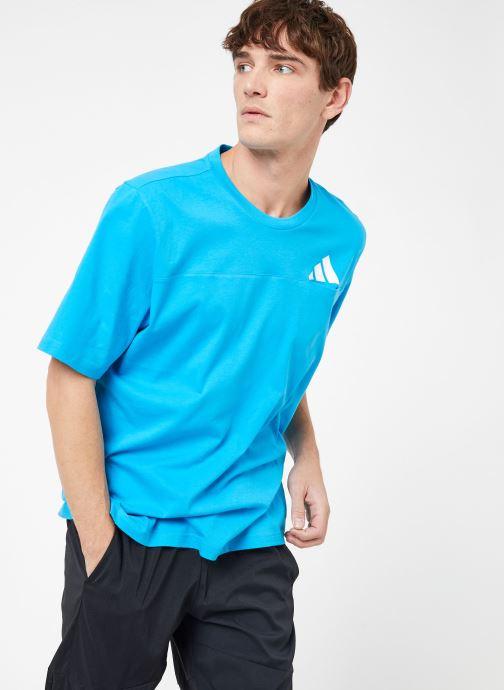 Vêtements adidas performance The Pack Tee Bleu vue droite