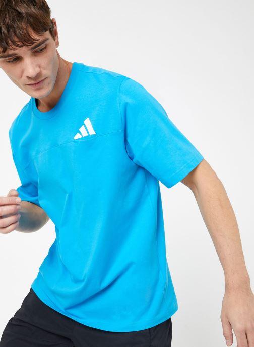 Kleding adidas performance The Pack Tee Blauw detail
