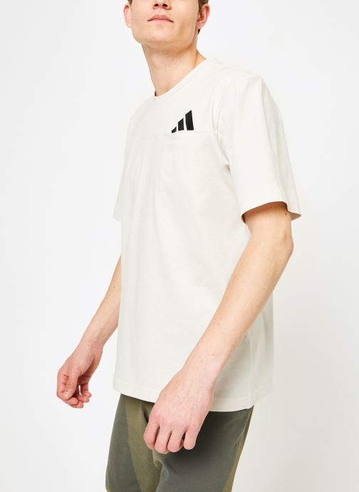 Vêtements adidas performance The Pack Tee Blanc vue droite