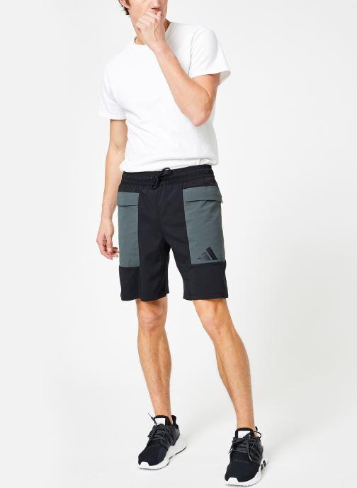 Vêtements adidas performance The Pack Short Noir vue bas / vue portée sac