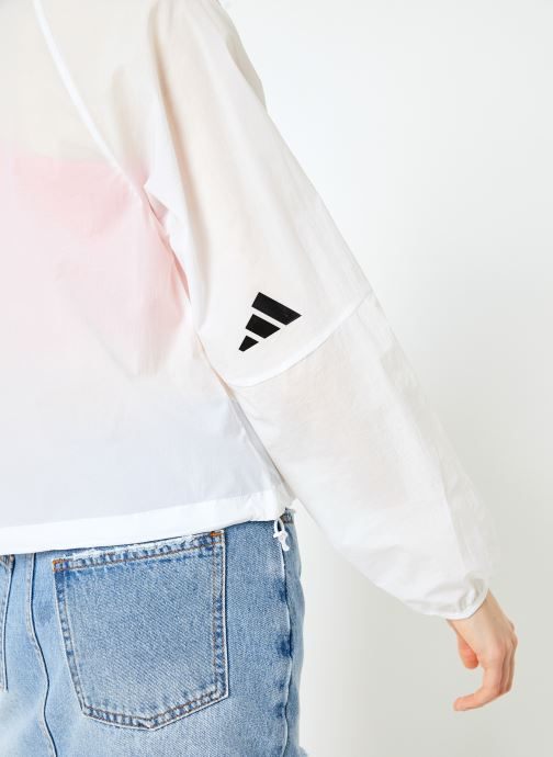 Vêtements adidas performance W Pck Blouson Blanc vue face