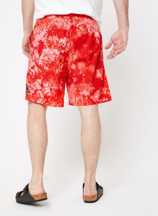 Vêtements adidas performance ID SDYE Short Rouge vue portées chaussures