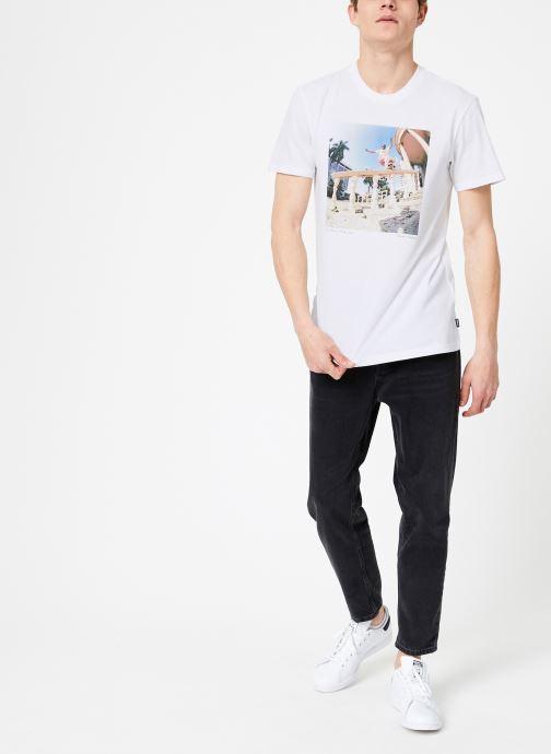 Vêtements adidas performance Nestor Tee Blanc vue bas / vue portée sac