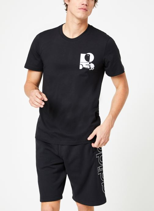 Vêtements adidas performance Brazee Tee Noir vue droite
