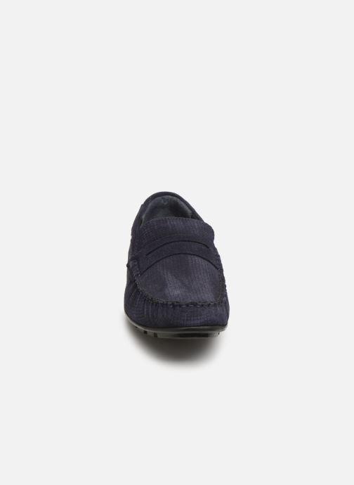 Mocasines I Love Shoes THEMOC Leather Azul vista del modelo