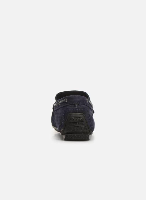 Mocasines I Love Shoes THEMOC Leather Azul vista lateral derecha