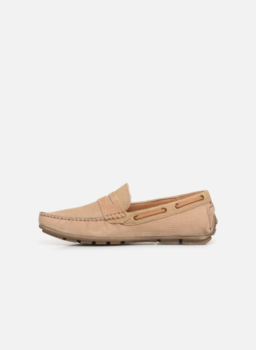 Loafers I Love Shoes THEMOC Leather Beige front view