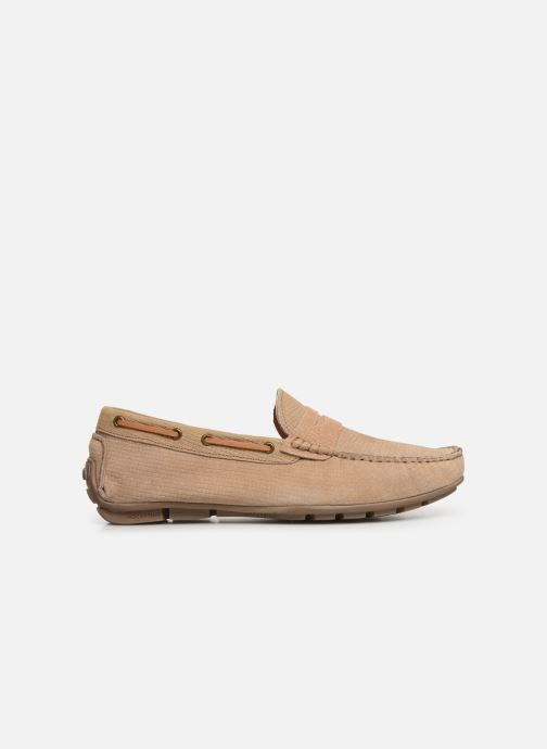 Loafers I Love Shoes THEMOC Leather Beige back view
