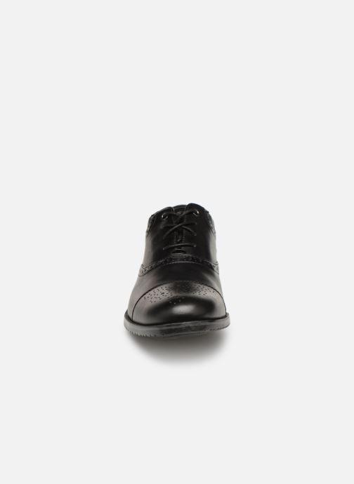 Schnürschuhe Rockport Sp3 Cap Toe C schwarz schuhe getragen