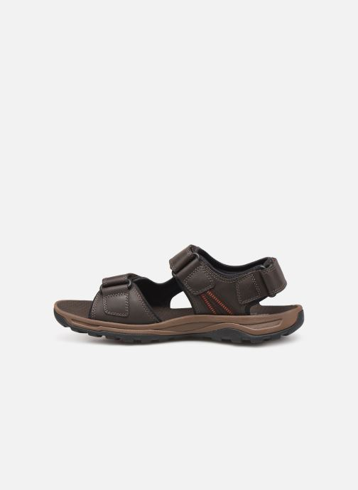 Sandales et nu-pieds Rockport TT 3 Strap Sandal C Marron vue face
