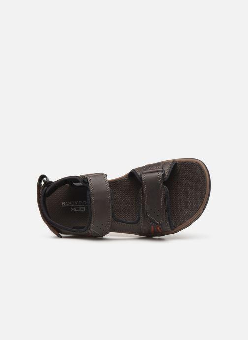 Sandales et nu-pieds Rockport TT 3 Strap Sandal C Marron vue gauche