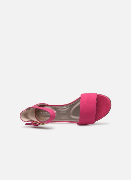 Sandals Rockport TM Zandra Curve Ank C Pink view from the left