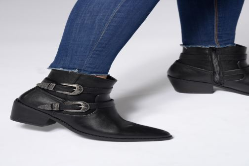Ankle boots I Love Shoes THETIS Black view from underneath / model view