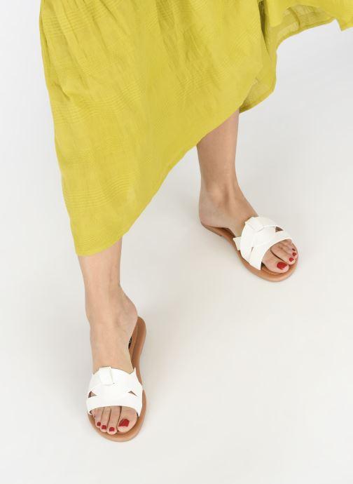 Zuecos I Love Shoes THUTTI Blanco vista de abajo