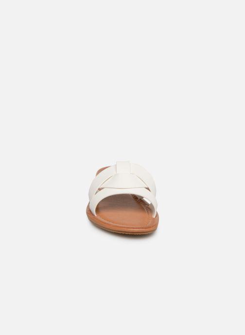 Zuecos I Love Shoes THUTTI Blanco vista del modelo