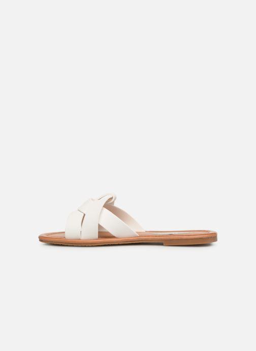 Zuecos I Love Shoes THUTTI Blanco vista de frente