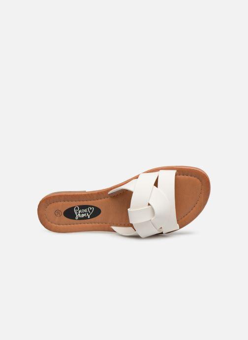 Zuecos I Love Shoes THUTTI Blanco vista lateral izquierda
