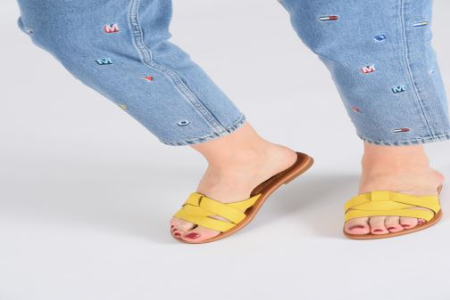 Mules & clogs I Love Shoes THUTTI Yellow view from underneath / model view