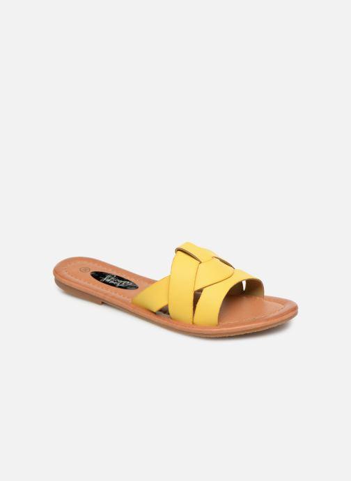 Mules et sabots I Love Shoes THUTTI Jaune vue détail/paire