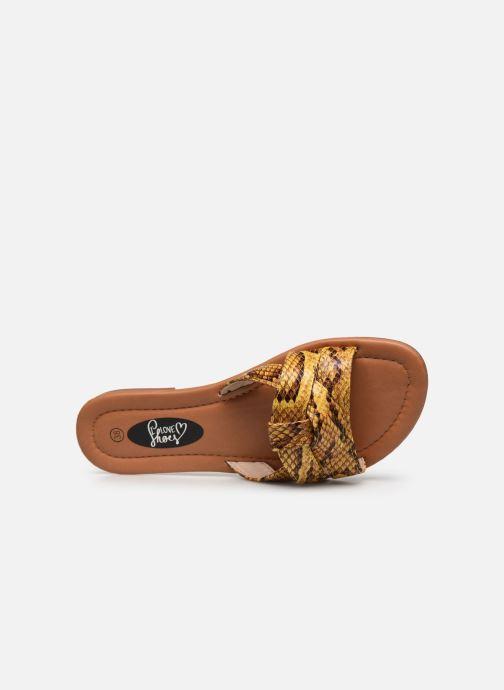 Zuecos I Love Shoes THUTTI Amarillo vista lateral izquierda