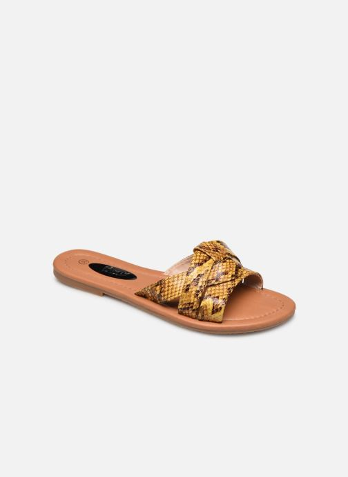 Zuecos I Love Shoes THUTTI Amarillo vista de detalle / par