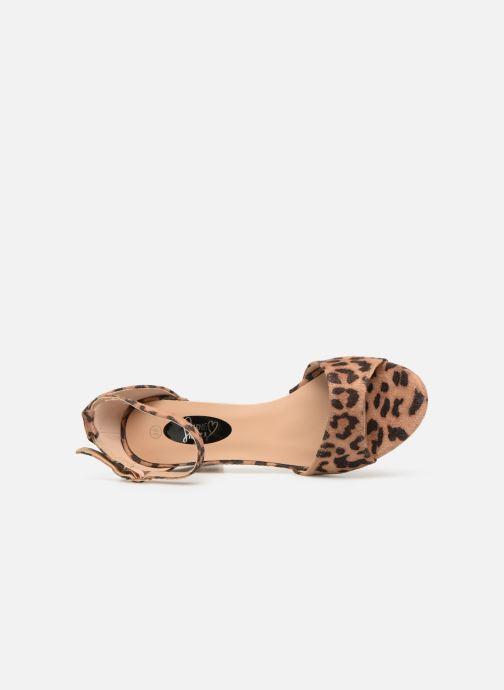 Sandalias I Love Shoes THITAN Marrón vista lateral izquierda