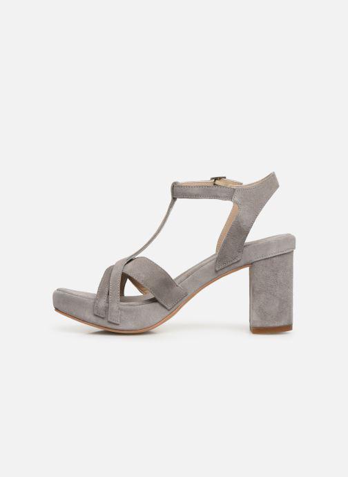 Sandales et nu-pieds Khrio 11032 Gris vue face