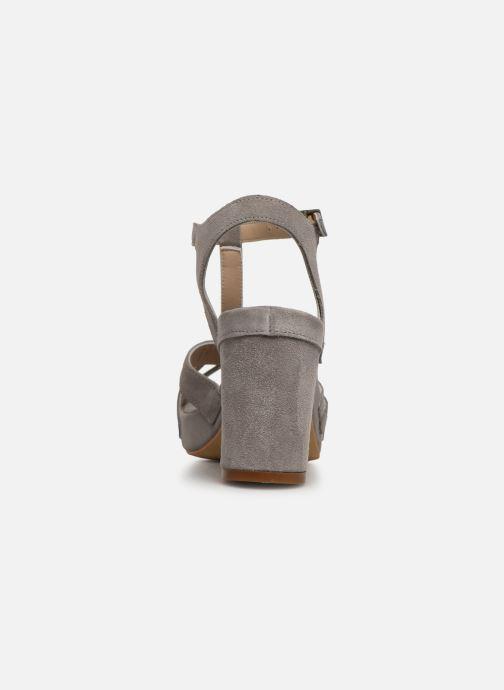 Sandales et nu-pieds Khrio 11032 Gris vue droite