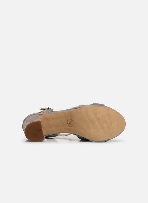 Sandales et nu-pieds Khrio 11032 Gris vue haut